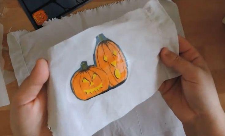 Come fare applicazioni su stoffa con i tovaglioli per il decoupage. Video Tutorial