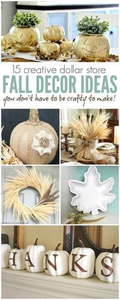 Dollar Store Fall Decor Ideas Anyone Can Make, Fall Table Settings, Thanksgiving Decorations and Pumpkin Makeovers to Decorate your Home for Fall!