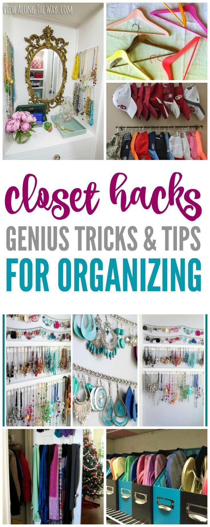 Closet Hacks Andanization Tips! Easy And Simple Ways To Declutter And  Clean