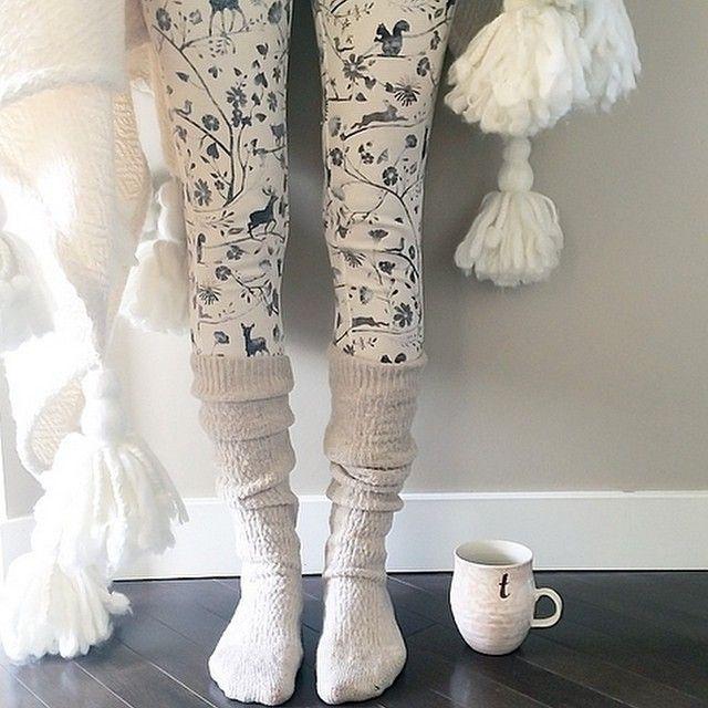 Thermal leggings, Anthropologie-style! #anthrofave