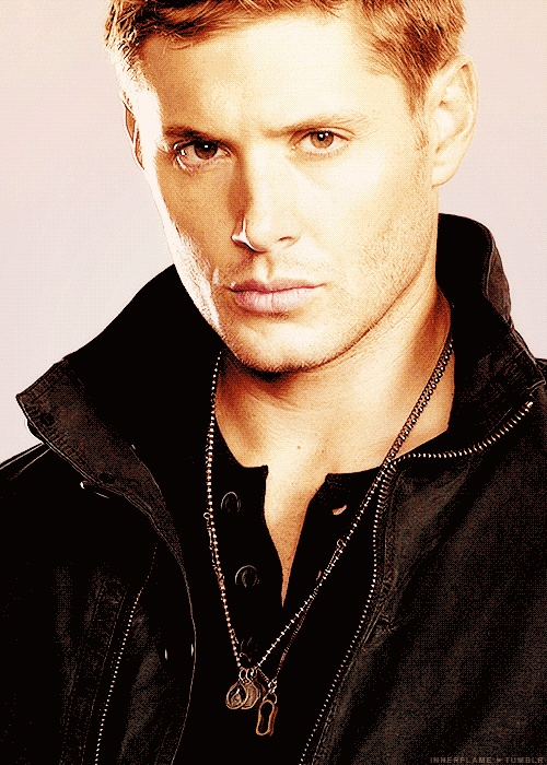 Dean Winchester, with the stare that can kill a monster and strip a woman in under five seconds flat.