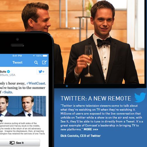 Twitter and Comcast Announce New Social TV Feature
