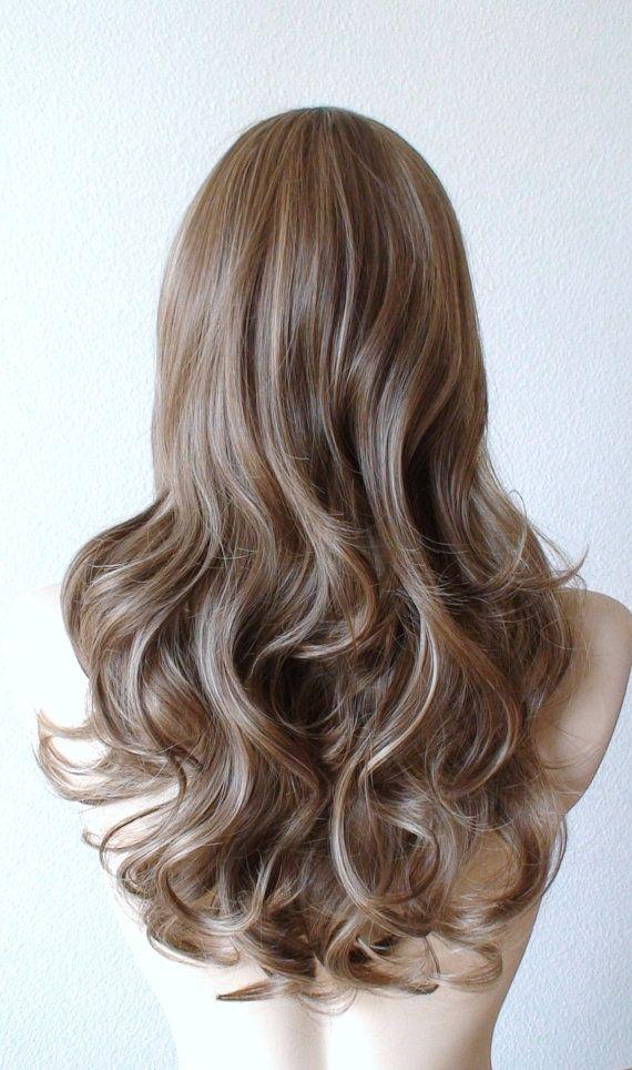 Brown / Dirty blonde/ Ash blonde mixed color wig. Long by kekeshop