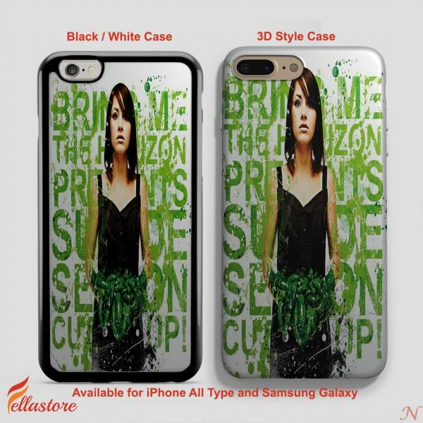 beautiful Bring Me the Horizon Suicide Season Lyrics iPhone 7 Case, iPhone 7 Plus Case, iPhone 6-6S Plus, iPhone 5 5S SE, Samsung Galaxy S8 S7 S6 Cases and Other
