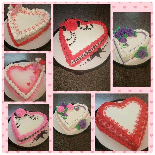 Heart shaped cake design ideas.