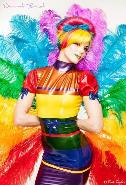 "One world, one people. We take great pleasure in celebrating the Sochi 2014 Winter Games in Russia with this wonderfully colourful photograph of Susan Foxyp Cox, The ""Pride"" of Ireland in our Westward BoundRainbow Dress. Location: Dublin, Ireland. www.westwardbound.com/R1565  Hair and Make-up: Cosmaddict Make Up and Hair Make Up: Sara Tonin Photography: Rick Taylor First Focus Photography."