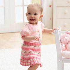 Mary Maxim - Free Florals Skirt Knit Pattern - Free Patterns - Patterns & Books