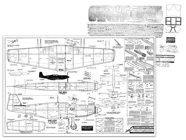P-51A Mustang - plan thumbnail