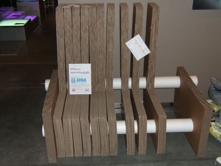 Infinitive   Modular Chair, Made With Corrugated Cardboard Layers