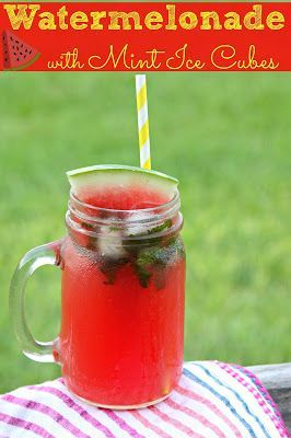 Summer Watermelonade- a fun and tasty drink made with fresh watermelon ...