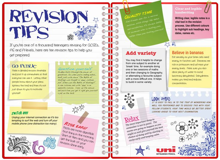 Revision tips.  #L6FC