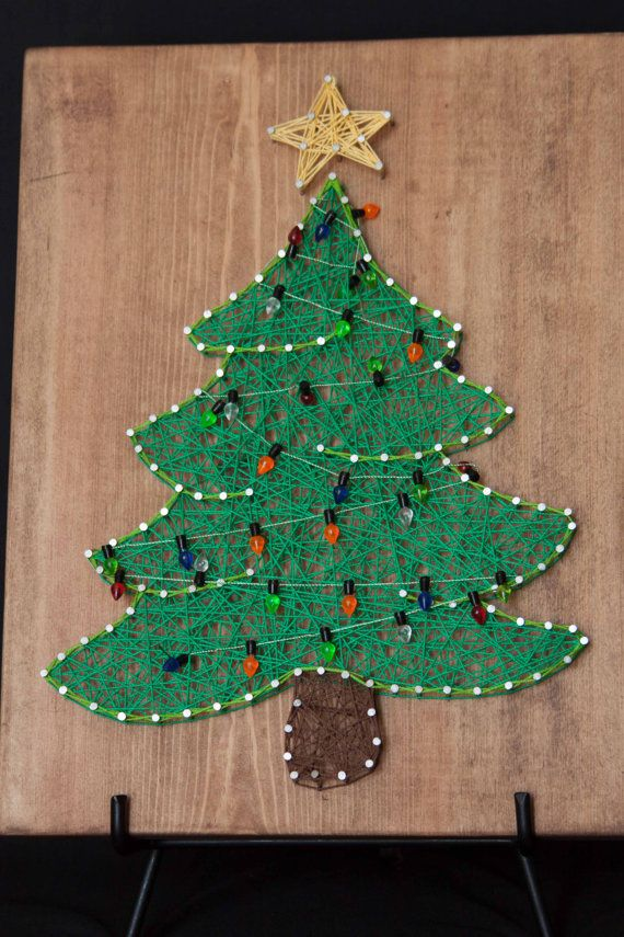 holiday string art string art and christmas tree
