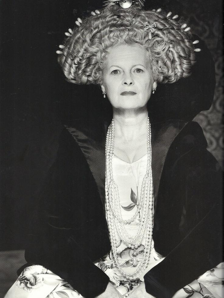 Queen Vivienne westwood. Queen of fashion. Genius. #elizabethan beauty