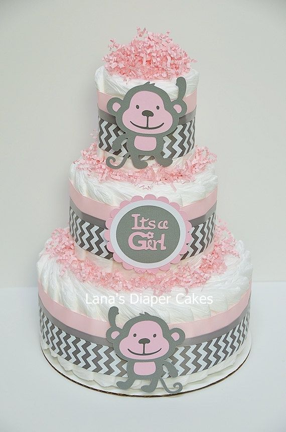 Hey, I found this really awesome Etsy listing at https://www.etsy.com/listing/209288496/pink-and-gray-monkey-diaper-cake-monkey