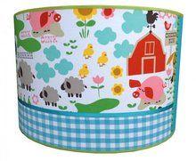 #Boerderij babykamer lamp. Lieve Lamp voor de Babykamer met #boerderijdieren. #barnyard leuk van www.dreumesenzo.nl