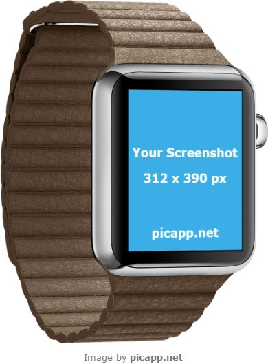 If you've created a new iOS app and want a cool way to present it to the world, then this gorgeous Apple Watch template is the perfect for you. Go to Picapp.net, choose what device frame you like and upload your screenshot. Download the final image and be amazed! Picapp.net is an online tool which makes your life easier and the good part: it's free to download the final image in your PC!   #apple #nobackground #mockup #AppleWatch #smartwatch #picapp