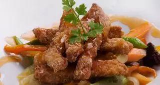 Receta de Cerdo con verduras y salsa agridulce