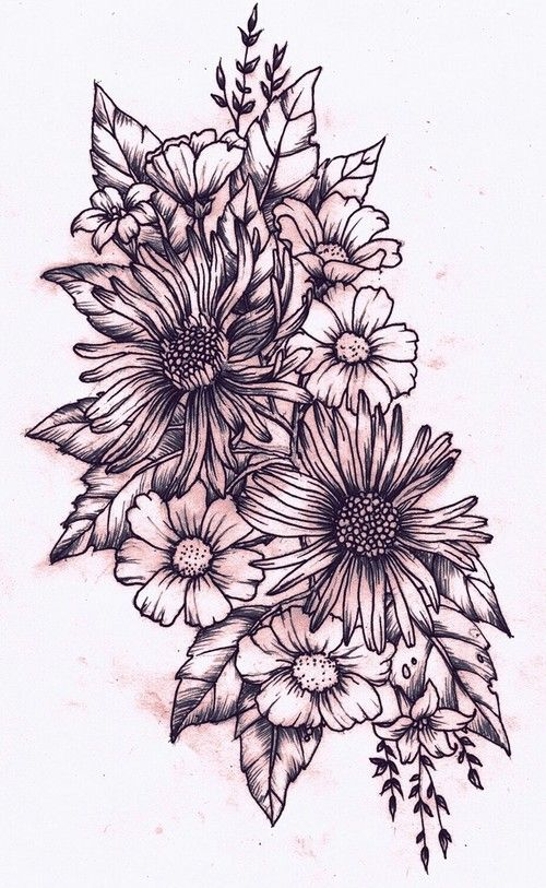 25 Trending Flower Bouquet Tattoo Ideas On Pinterest