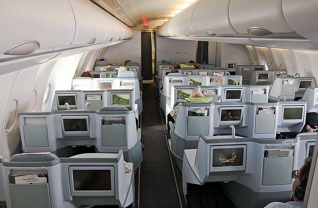 Finnair Business Class cabin on the A330  http://www.skyclub.com/news/2013/03/21/finnair-begins-trial-of-hp-elitepad-tablets-in-business-class
