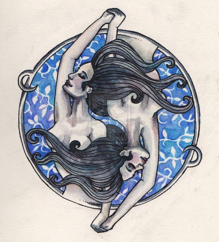 Gemini Tattoo Drawing