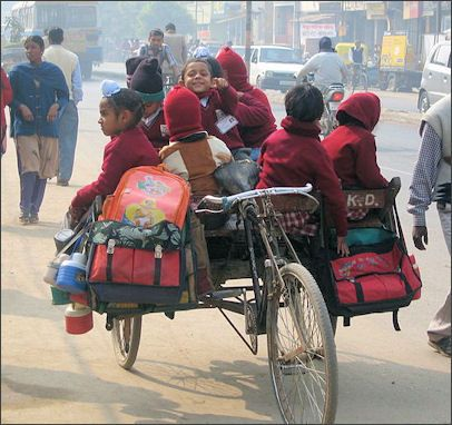 School-rickshaw in India