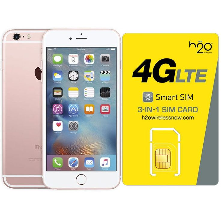Refurbished iPhone 6S Plus Rose Gold GSM UNLOCKED 64GB & H20 4G LTE SIM Card (1GB Data Included)