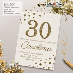 Um convite pra lá de chic para seu aniversário de 30, 40, 50, 60... anos…