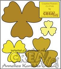 Crealies Creative Flowers no. 03 (stans - die - Stanzschablone - pochoir) http://www.crealies.nl