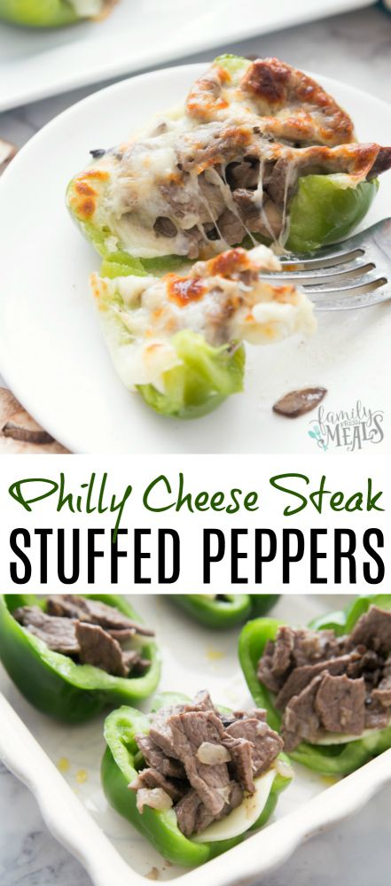Philly Cheese Steak Stuffed Peppers - Family Fresh Meals