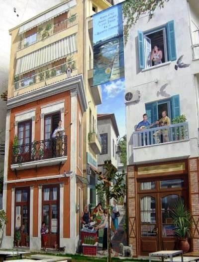 Τρικαλα- ζωγραφική σε κτίρια!