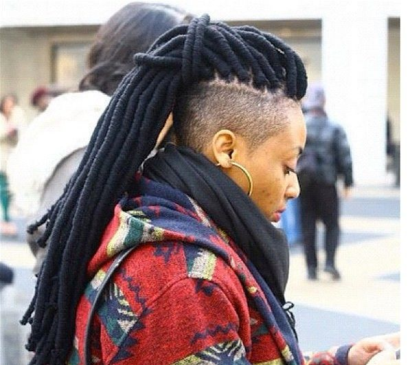 Shaved Sides With Yarn Dreads