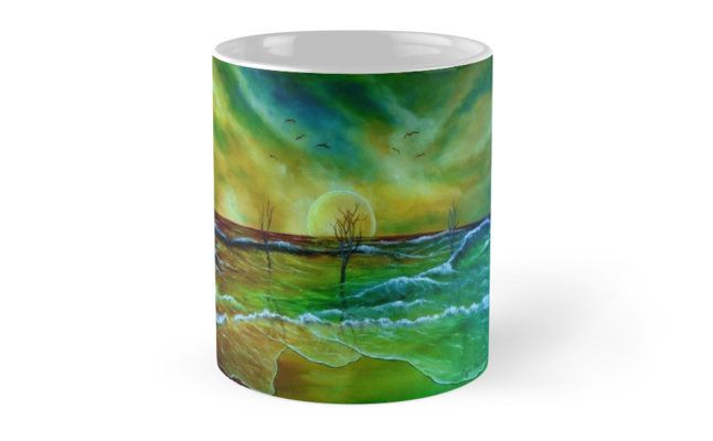 gifts for nature lovers, sea, ocean, waves, beach, sky, colorful, cool, artistic, Coffee Mug