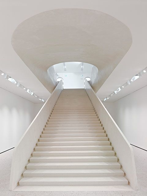Städel Museum, Frankfurt am MainStaircases, Staircas Design, Frankfurt Germany, Interiors, Museums Extened, Architecture, Städel Museums, Stairways, White Stairs