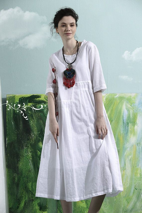 white linen dress long linen dress wedding dress by camelliatune