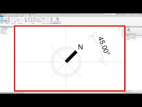 Rotatable North Arrow Symbol_ Revit Architecture_Annotation