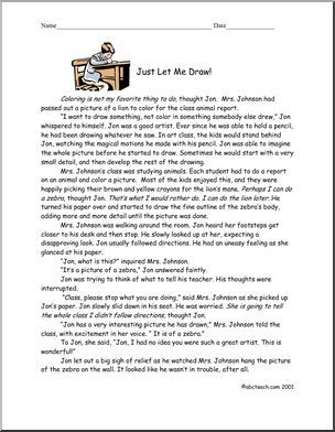 best school english comprehension images elem upper elem story about a boy who loves to draw and short essay style comprehension questions