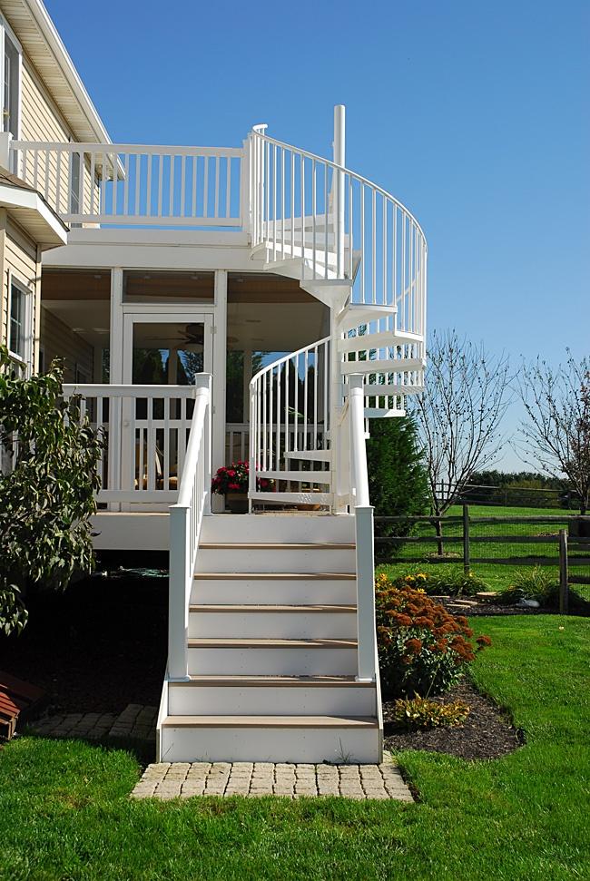 5 diameter aluminum spiral stair yard ideas pinterest - Spiral staircase exterior aluminum ...