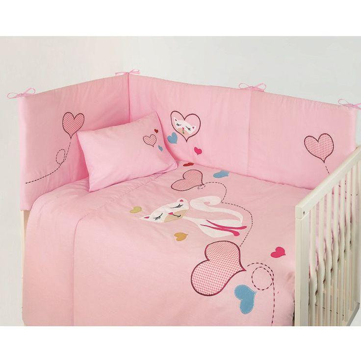 Βρεφικά Σετ Κούνιας : Σετ Κούνιας (3τεμ. Κουβερλί-Πάντα-Μαξ/κη) Das Baby Line Embroidery 6163