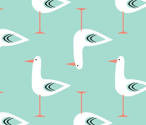 inspired by the works of late artist, Charlie Harper, this print is both classic and on trend. - Spoonflower ohpoe