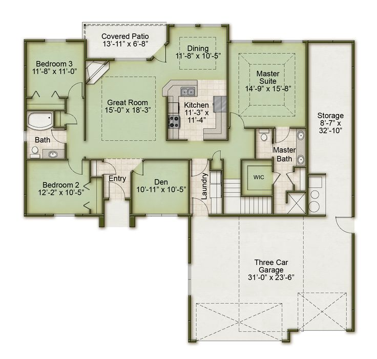 Weather Vane Homes SunRay A Floor Plan