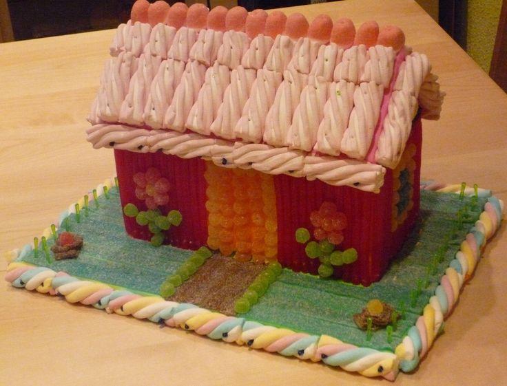 Tarta de chuches - Candy cake - #Casita #House