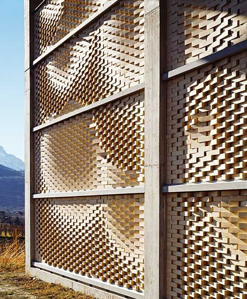 Winery Design (Gantenbein Winery) Switzerland - if they have a central pivot, it could be infinitely reorged