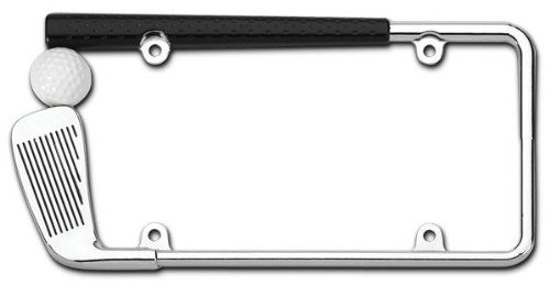 Check Out This Cool Chrome Golf Club License Plate Frame