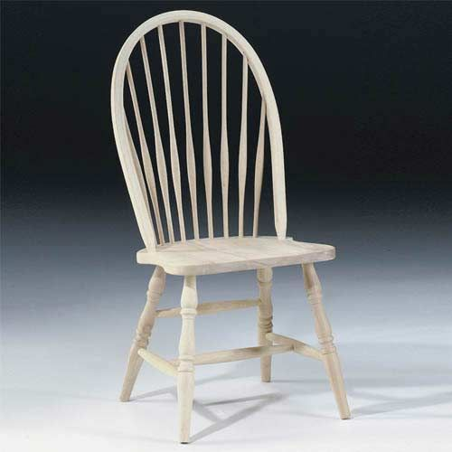 Windsor Unfinished Wood Chair (going To Sand Current Chairs To This And  Have The Seat