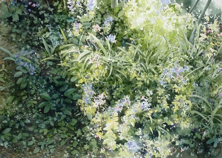 Abe Toshiyuki Watercolor on Waterford, 30×43cm, 2013