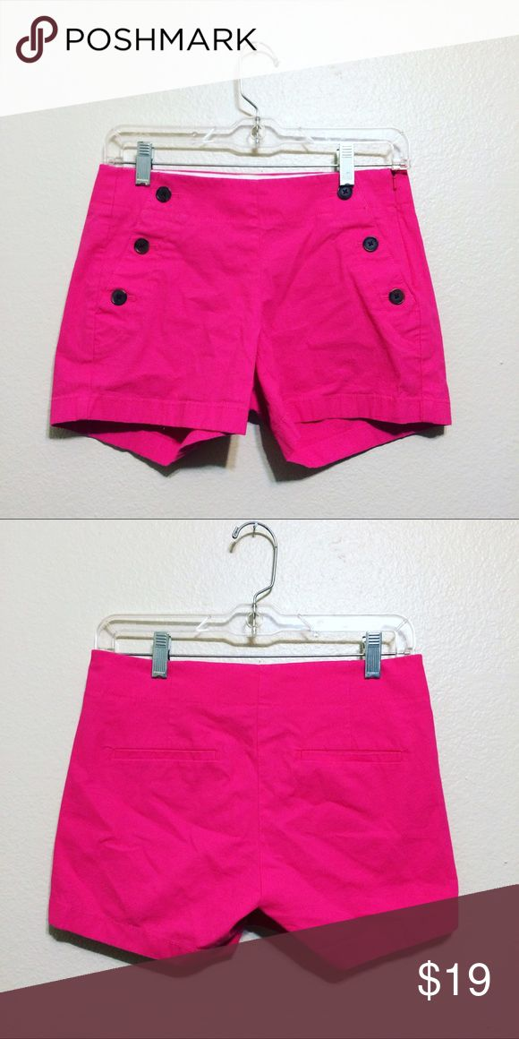 """J Crew Hot Pink Sailor Shorts Adorable shorts from J Crew in great condition!  Size 00, city fit. I will accept all reasonable bundle offers.       4"""" inseam.      8"""" rise J. Crew Shorts"""