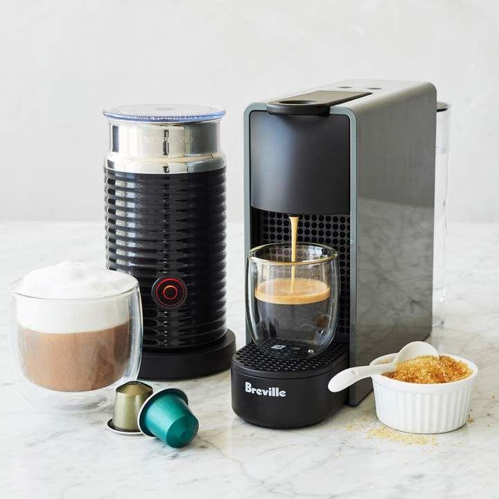 Nespresso Essenza Mini Espresso Machine By Breville With Aeroccino3 Frother Sur La Table Nespresso Essenza Nespresso Coffee Capsules Nespresso