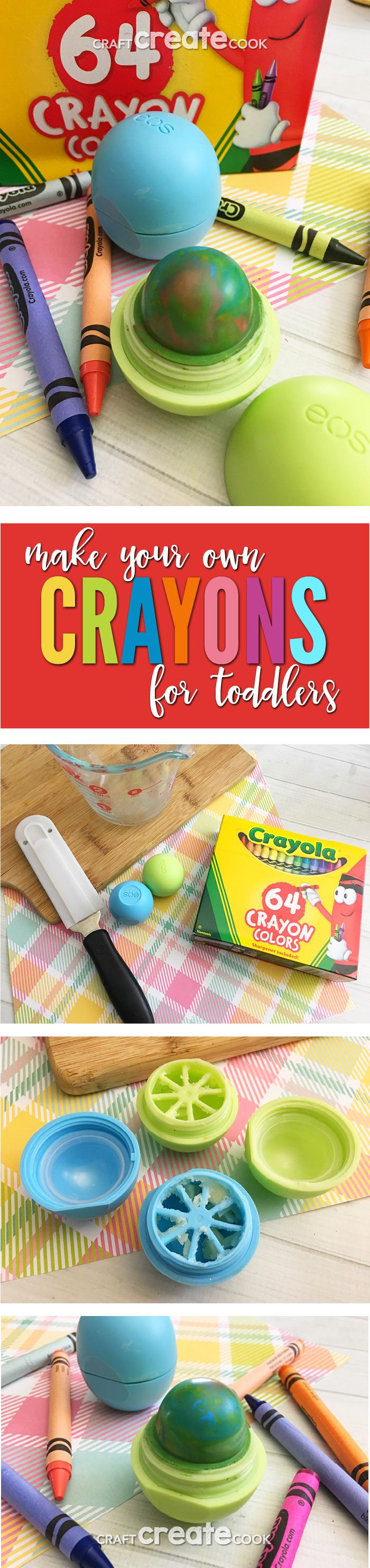 DIY Upcycled Crayons Craft using empty EOS Containers.  via @CraftCreatCook1