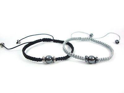 Handmade Natural Hematite Healing Stone Greek Macrame Friendship Greek Bracelet