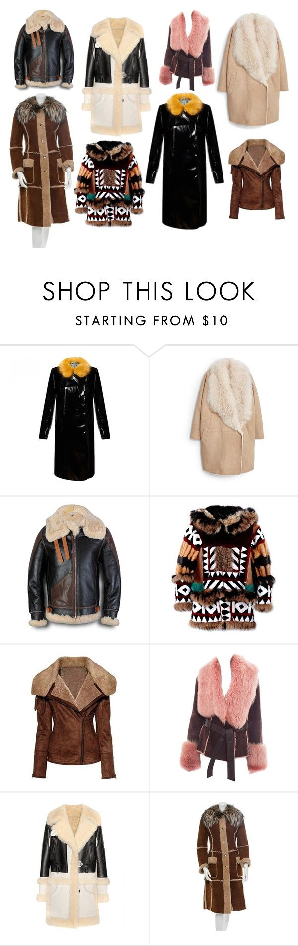 дубленки и кож.пальто 15-16 by tatyana-yurasova on Polyvore featuring мода, Dsquared2, Coach, Dolce&Gabbana, MANGO and Temperley London